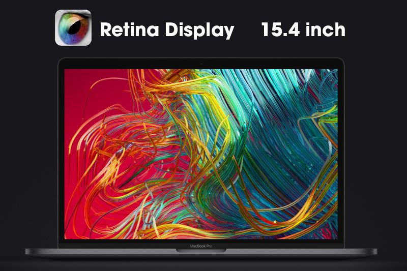Màn hình sắc nét trên macbook pro 15 inch 2018
