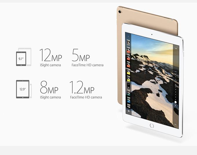 So sánh những điểm khác biệt giữa iPad Pro 9.7 inch và iPad Pro 12.9 inch