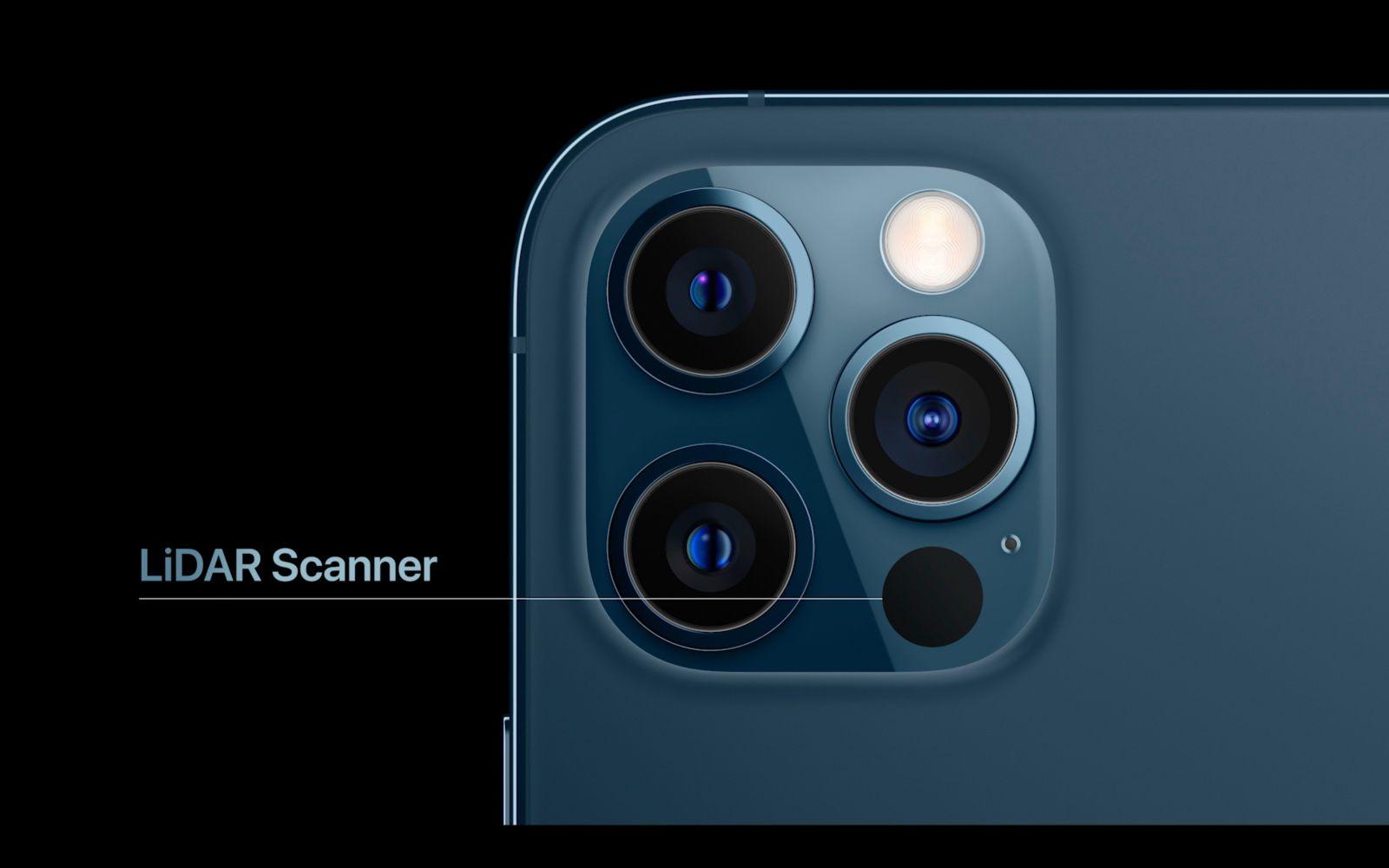 iPhone 12 Pro Max lidar cam