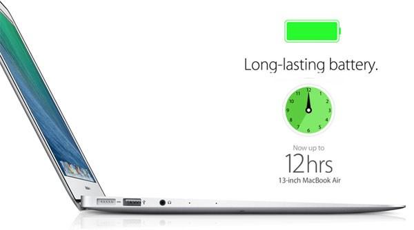 Macbook Air MD761 thời gian sử dụng 10 – 12 giờ