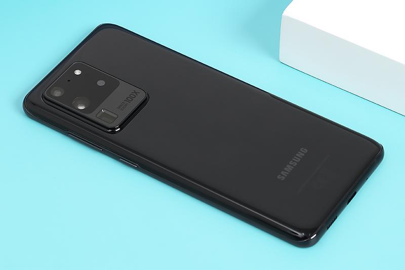 Điện thoại Samsung Galaxy S20 Ultra | Thiết kế mặt lưng kính cường lực cao cấp