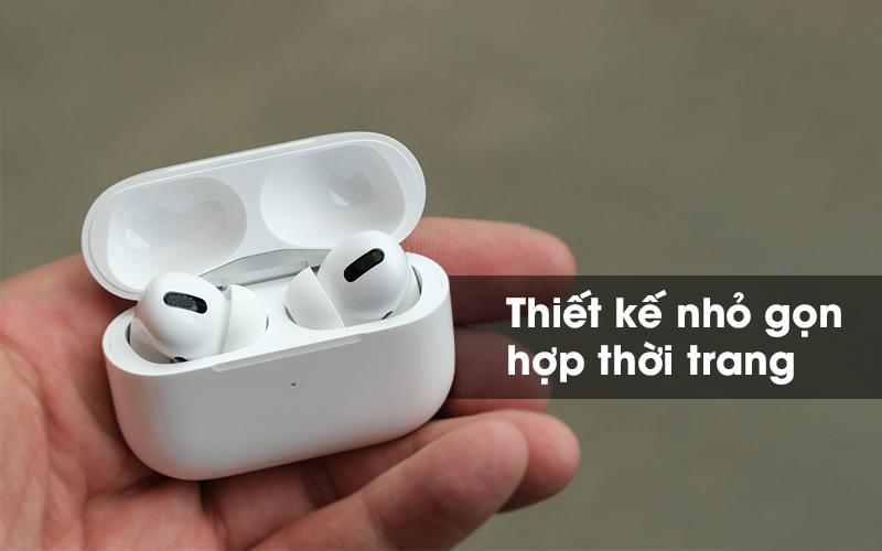 Tai nghe Bluetooth Airpods Pro Apple Trắng với thiết kế nhỏ gọn