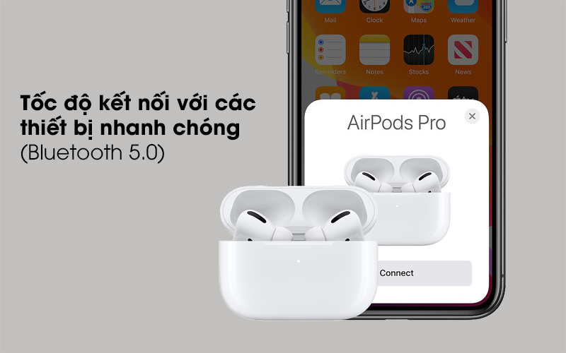 Tai nghe Bluetooth Airpods Pro Apple Trắng kết nối nhanh chóng