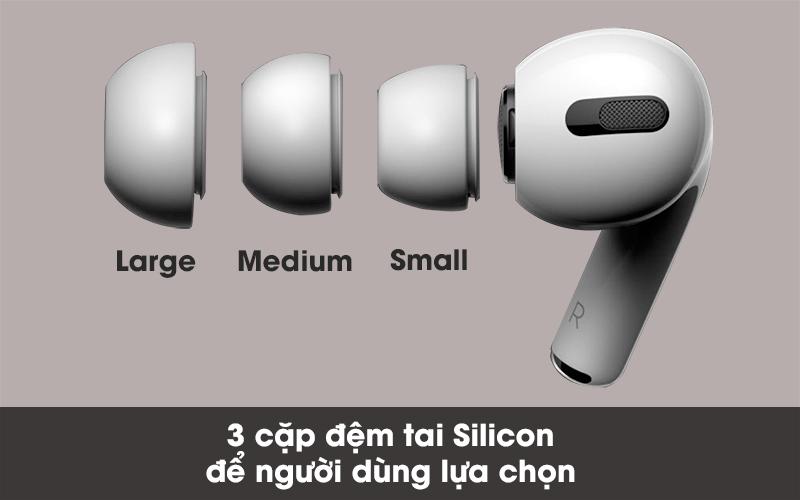 Đi kèm theo là 3 cặp đệm tai Silicon cho người dùng chọn lựa