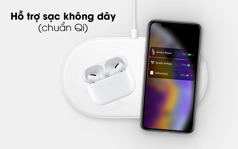 Tai nghe Bluetooth Airpods Pro Apple Trắng có hỗ trợ sạc không dây