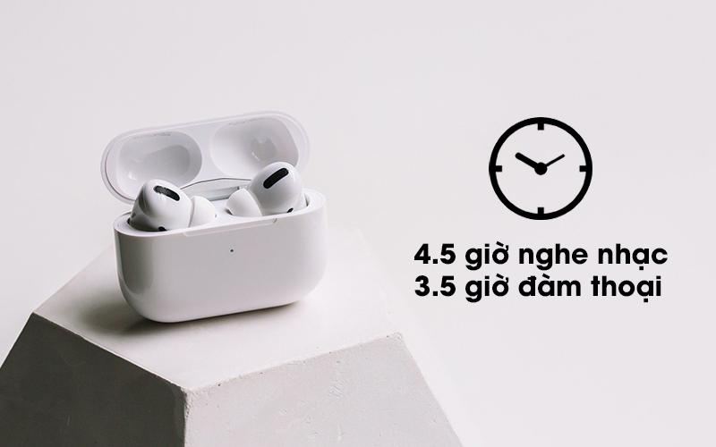 Tai nghe Bluetooth Airpods Pro Apple Trắng với thời gian sử dụng lâu