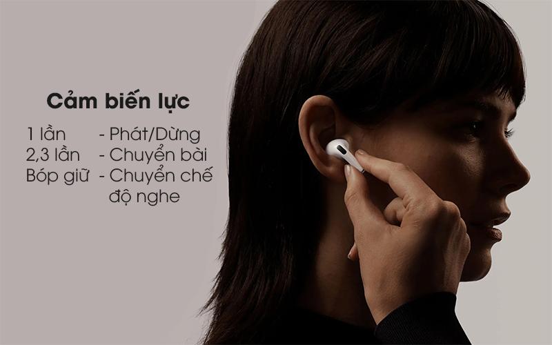 Tai nghe Bluetooth Airpods Pro Apple Trắng sử dụng cảm biến lực