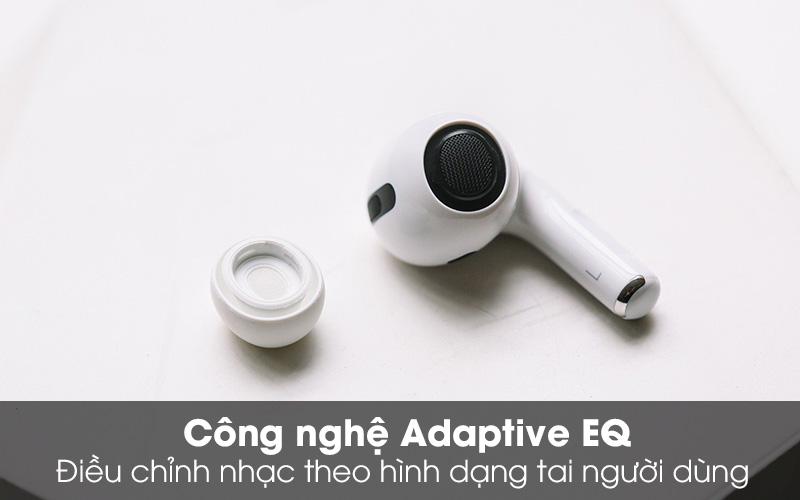 Tai nghe Bluetooth Airpods Pro Apple Trắng với công nghệ Adaptive EQ